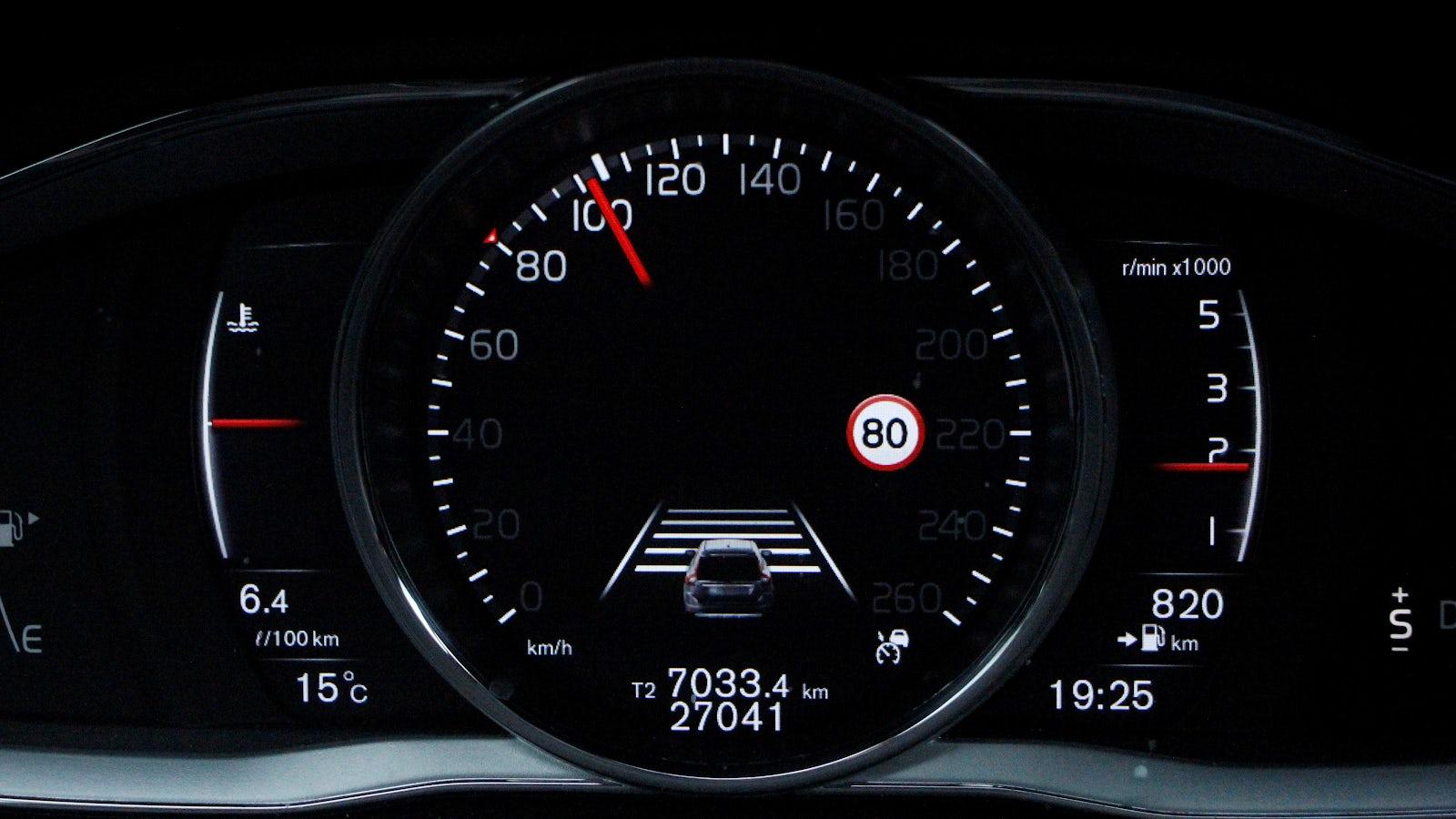 Digital hastighetsmätare i en bil