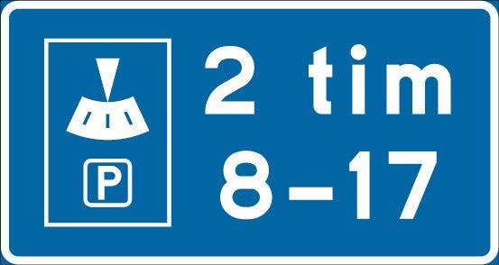 Parkeringplats där p-skiva behövs